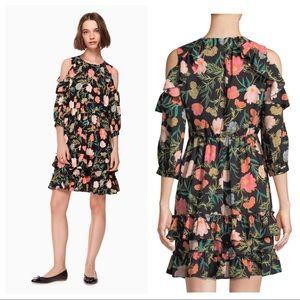 Kate Spade Floral Blossom Cold Shoulder Dress